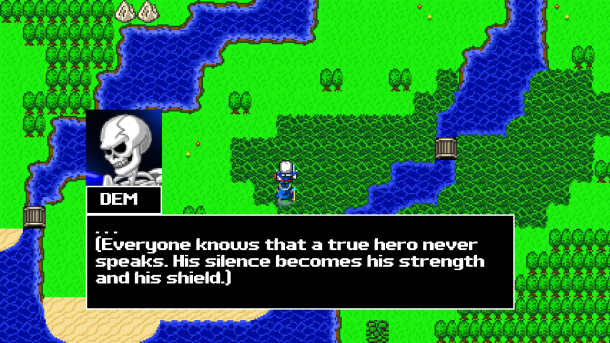 The game's dialog is displayed in classic Dragon Quest style.