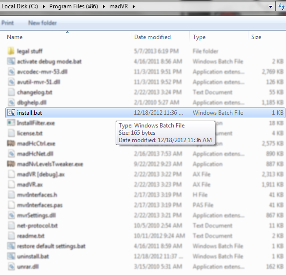 You want to extract the files to a permanent directory and then run the install.bat file.