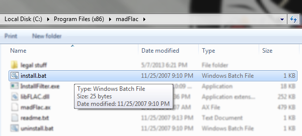 Simply extract the files to a permanent location and run the install.bat file