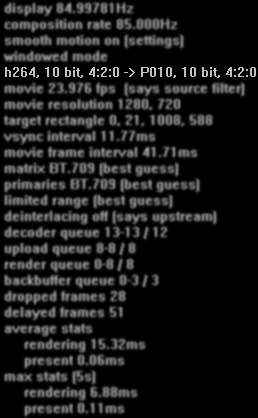Press crtl+j and see that it says 10 bit -> 10 bit and not 10 bit -> 8 bit.