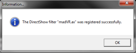 You will get a confirmation that it installed correctly.
